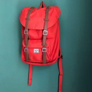 Herschel Bright Red Laptop Backpack